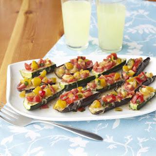 Zucchini & Eggplant Bruschetta Boats