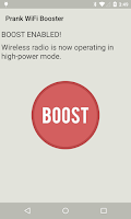 Screenshot of Prank WiFi Booster