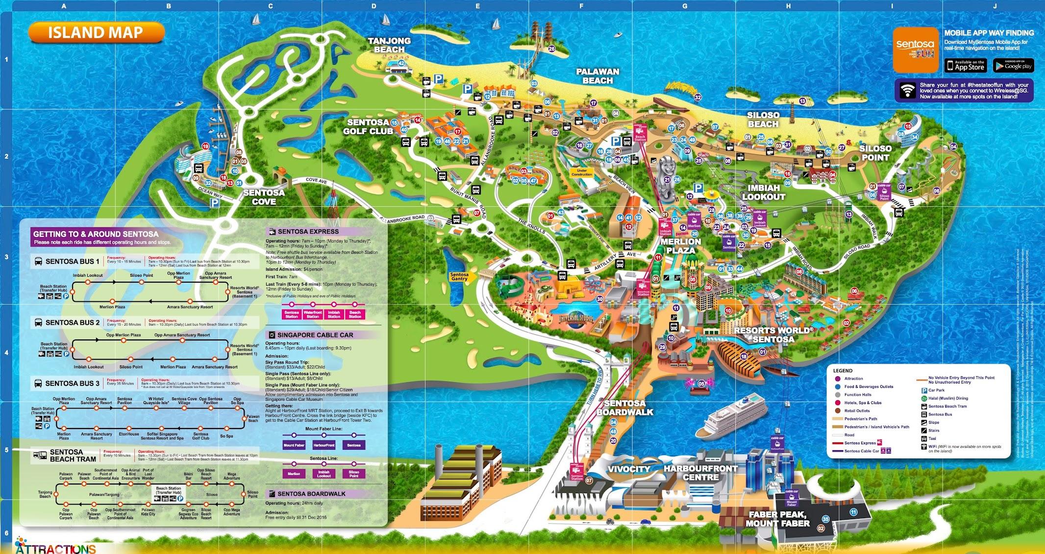 セントーサ島 地図 マップ