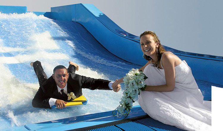 We don't recommend going down the FlowRider before your wedding ceremony on Freedom of the Seas, but you can opt for a number of fun activities before and after the nuptials.