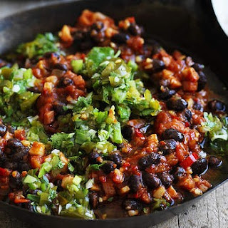 Chilli Black Beans With Jalapeño Salsa