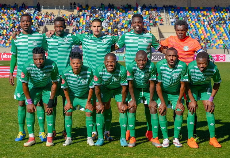 Team line up of Bloemfontein Celtic during the Absa Premiership 2018/19 game between Bloemfontein Celtic and Chippa United at Dr Molemela Stadium in Bloemfontein on 5 August 2018.