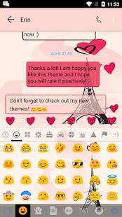 Paris Pink SMS Téma zprávy - náhled