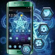 App Magic Circle Blue Star Theme APK for Windows Phone