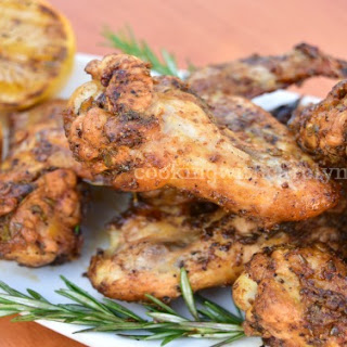 Lemon Pepper, Garlic & Rosemary Chicken Wings.
