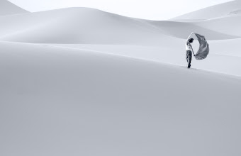 Photo: I am way behind with processing my images. This is the first one from my latest trip to Morocco. Truly a magical place btw! Will be posting many more soon.  I went to Morocco mainly to shoot abstract dunes photos. And I certainly brought home a lot of those. But for some reason I had to post this one first. The dunes in Erg Chebbi are simply stunning. I know that it is one of those places I will be returning to.  The model is beautiful +Mikaela Moves   #PlusPhotoExtract #photography #potd #BWLandscapeWednesday #FineArtPls #BWFineArtLE #TopPhotos2011
