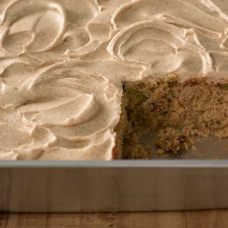 Zucchini Cake with Cinnamon Cream Cheese Frosting Recipe