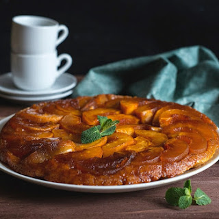 An upside-down tarte Tatin