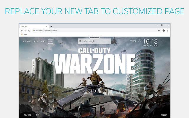 Call of Duty Warzone Custom New Tab