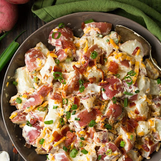 Cheddar Bacon Ranch Potato Salad.