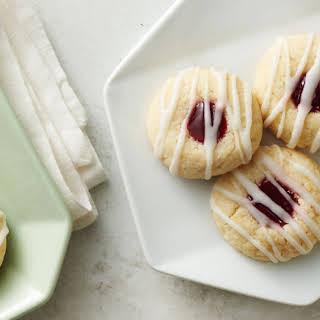 Raspberry Thumbprint Cookies.