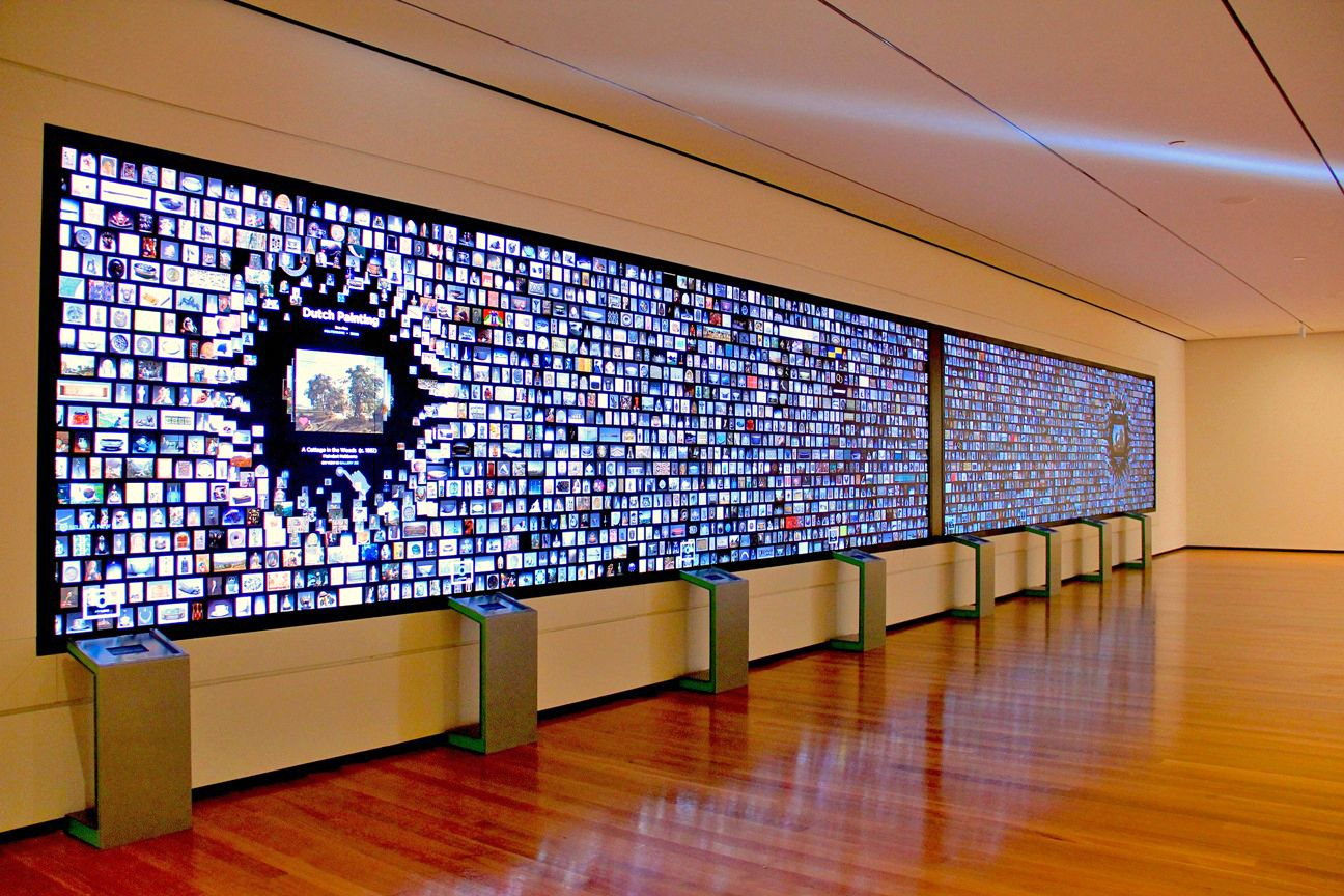 A smart video wall at a museum exhibit. Source: LamasaTech - Smart Video Wall - Rev Interactive