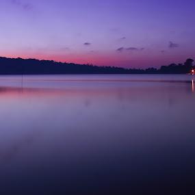 Beratan Lake at Morning by Angga Wiratryanjaya - Landscapes Waterscapes ( bali, beratan )