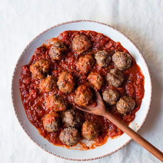 Spanish Style Lamb Meatballs with Spicy Tomato Sauce