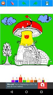 Mushrooms Coloring Book for Adults 2017 Free - náhled