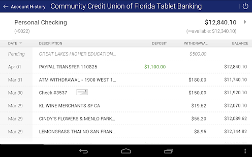 CCU FL Mobile Banking- screenshot thumbnail