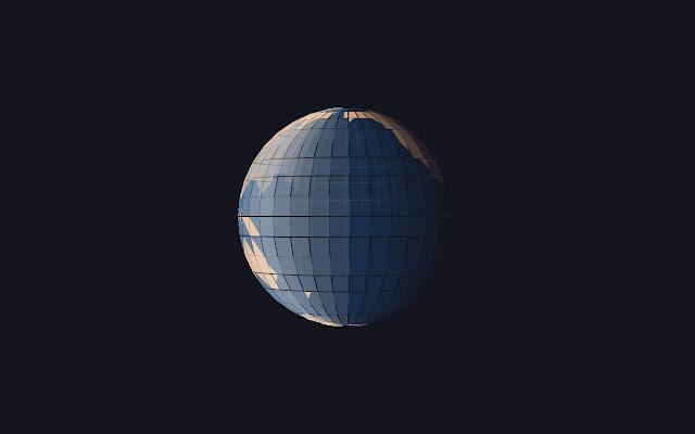Polygon earth effect