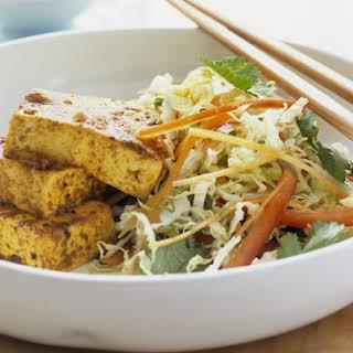 Tofu with Shredded Vegetable Salad.
