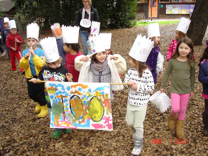 Photo: March also marked the 100th day of school in Kate's class.