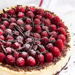 Dark Chocolate Raspberry Cheesecake.