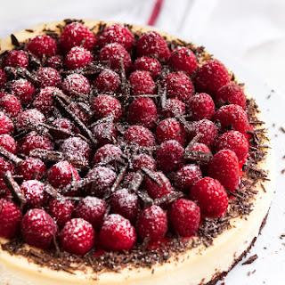 Dark Chocolate Raspberry Cheesecake.