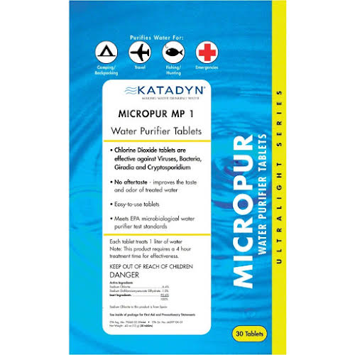 Katadyn  Micropur MP1 Water PurifierTabs Pack/30