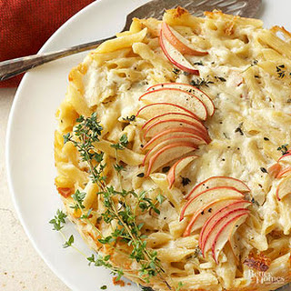 Apple and Cheddar Penne Pie Recipe