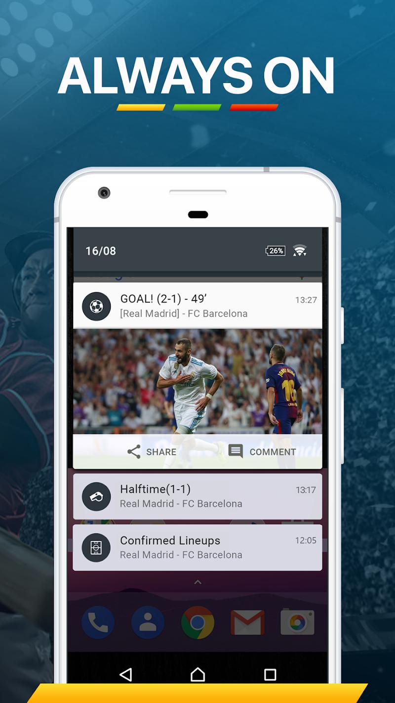 365Scores - Live Sports Score, News & Highlights Screenshot 5