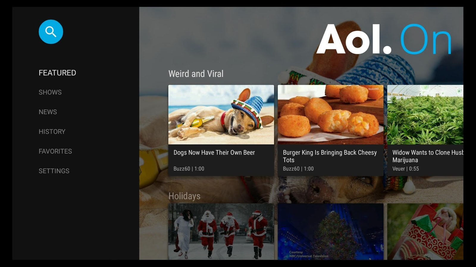 AOL Video for Android TV- screenshot