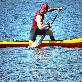 Canoeing - IV by Joatan Berbel - Sports & Fitness Watersports ( watersports, movement, sports, canoe, colorfull )