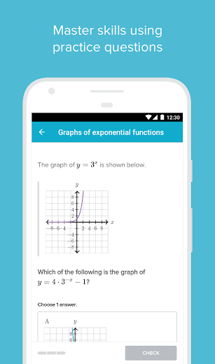 Screenshot 1 for Khan Academy's Android app'