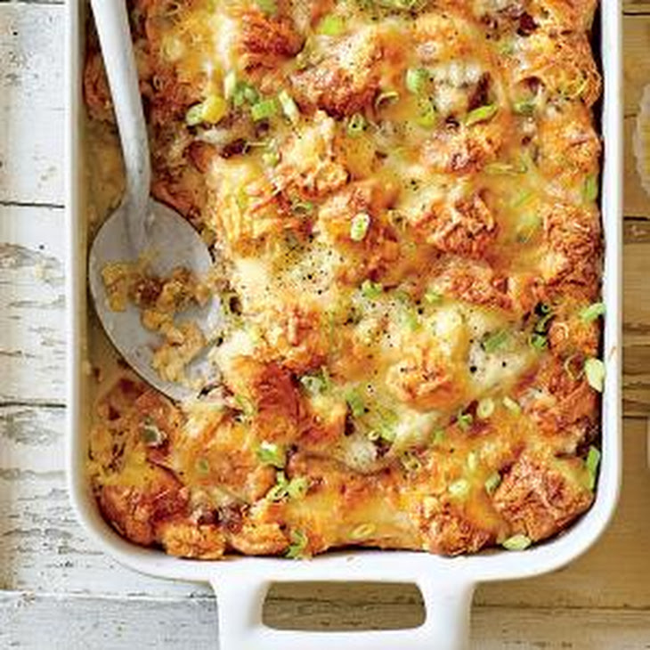 Cheesy Sausage-and-Croissant Casserole Recipe