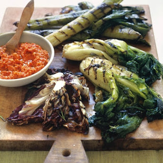 Grilled Vegetables with Romesco 3 Ways Recipe