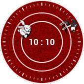 Chasing Clock Widget