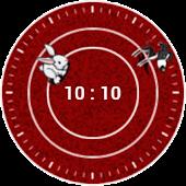 Chasing Clock Widget