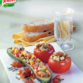 Gefüllte Zucchini mit Kräuter-Tomaten