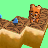 Zigzag Bear Jumpy Run 3D