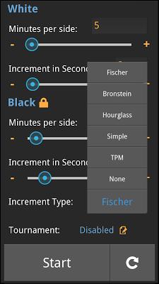 Time Control Chess Clock - screenshot