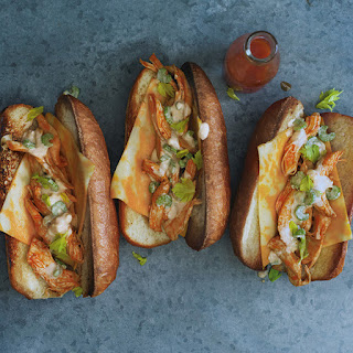 Shredded Buffalo Chicken Sandwiches
