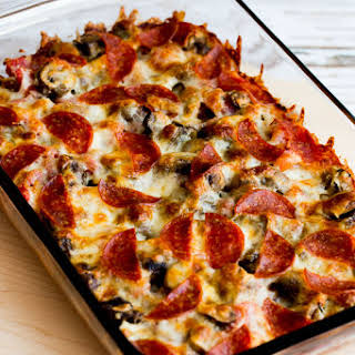 Low-Carb Deconstructed Pizza Casserole.