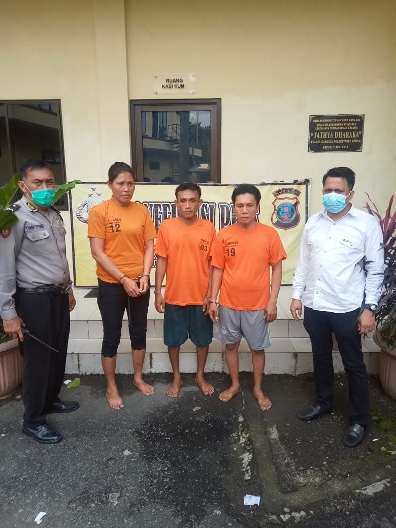 Tiga Orang Pengedar Narkoba Ditangkap di Sebuah Rumah