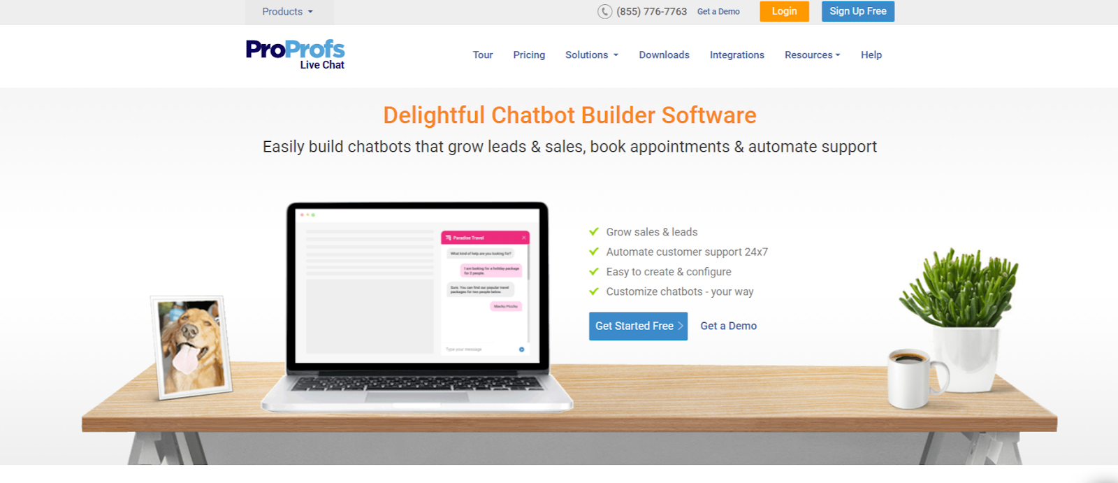 ProProfs AI based Chatbot tool for website