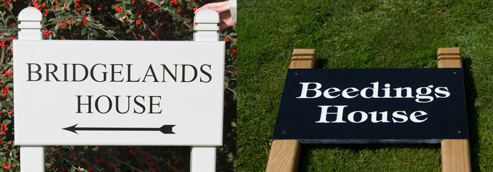 For something a little more decorative pick the shaped post tops at The Sign Maker.