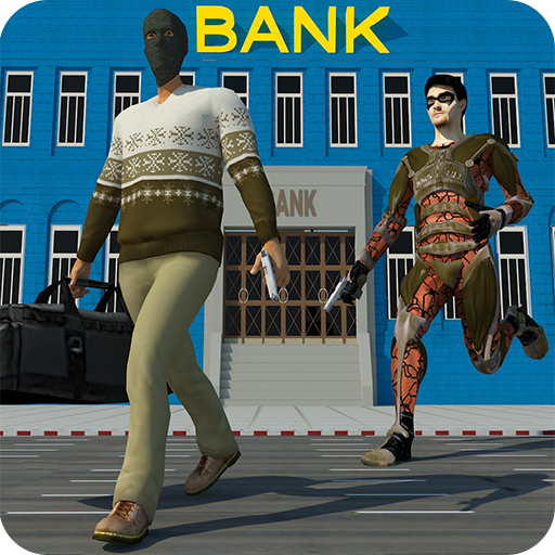 Bank Robbery Gangsters Vs City Rescue Heroes