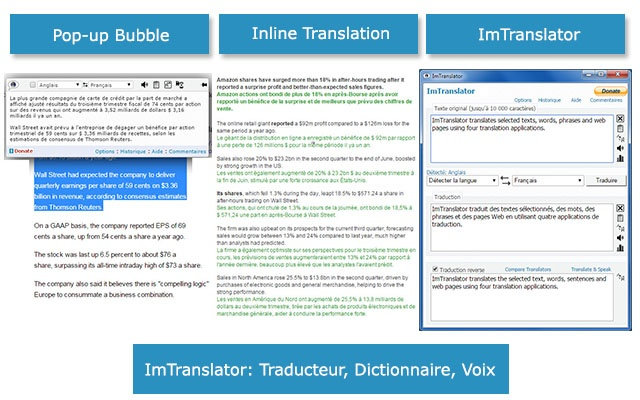 imtranslator  traducteur  dictionnaire  voix