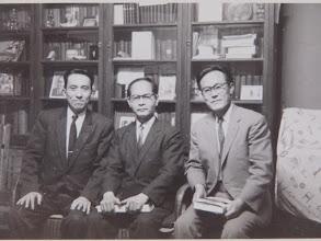 Photo: 1960年前後、金城牧師、山崎教諭と奥牧師と私邸にて。