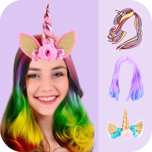 Unicorn Hair Salon Icon
