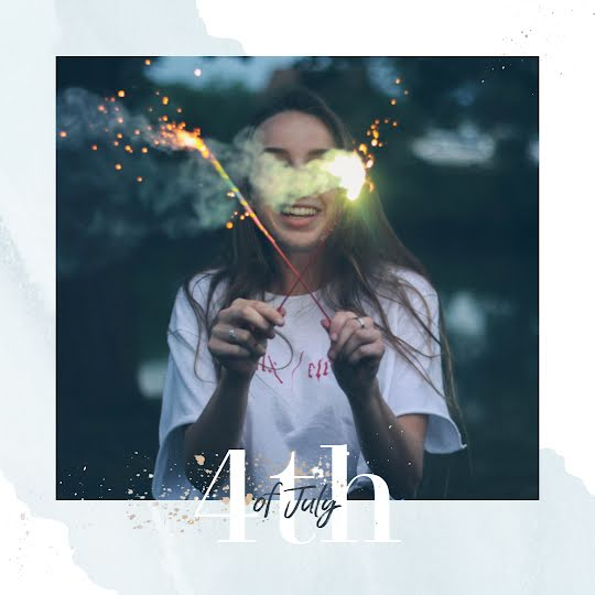 Fourth of July Sparkler - Instagram Post Template