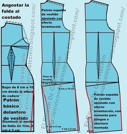 El Rincon De Celestecielo: Trazo de corte francés en patrones ...