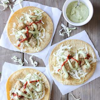 Crispy Cauliflower & Potato Tacos with Tangy Dill Crema
